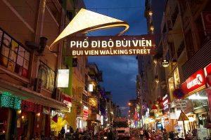 La noche de Saigón en Bui Vien
