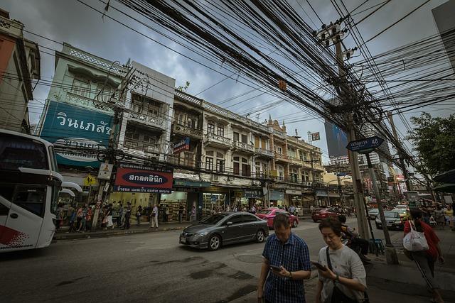 Vivir en el sudeste asiático. Cables eléctricos.