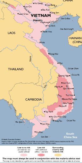 Mapa malaria vietnam