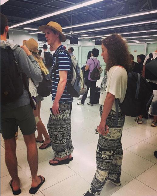 Pantalones de elefantes. Mochileros y backpackers.