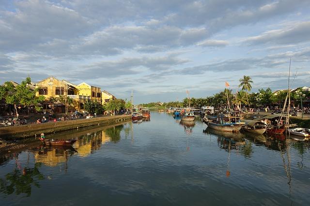 Río en Hoi An. Mi primera diarrea en Vietnam.