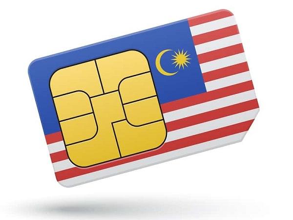 Sim card. Malasia.