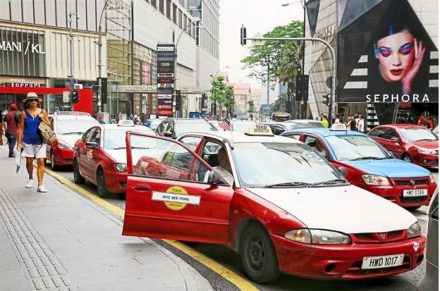 Taxi en Kuala Lumpur.