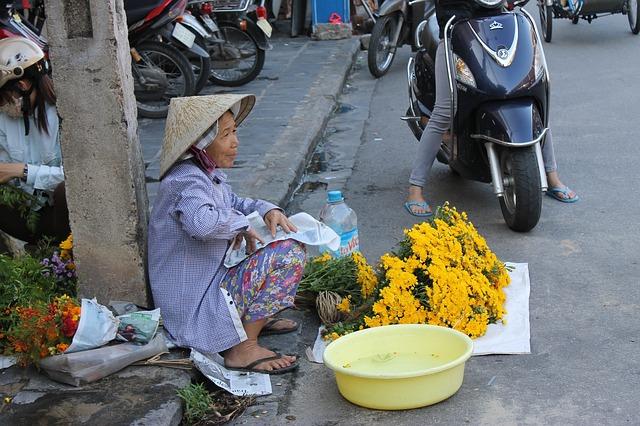 Vendedora en Hoi An. Mi primera diarrea en Vietnam.