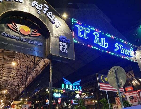 Pub Street Phnom Penh (Nom Pen). Camboya nightlife.