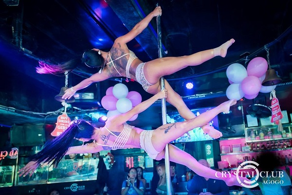 Crystal club dancers