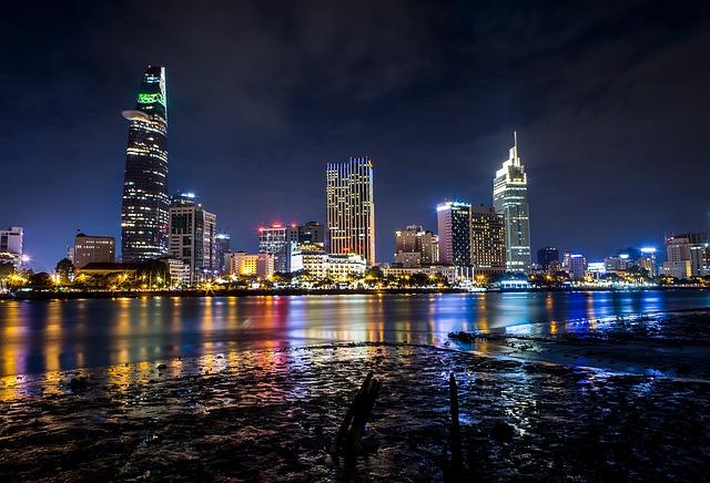 Río Saigon. Vietnam