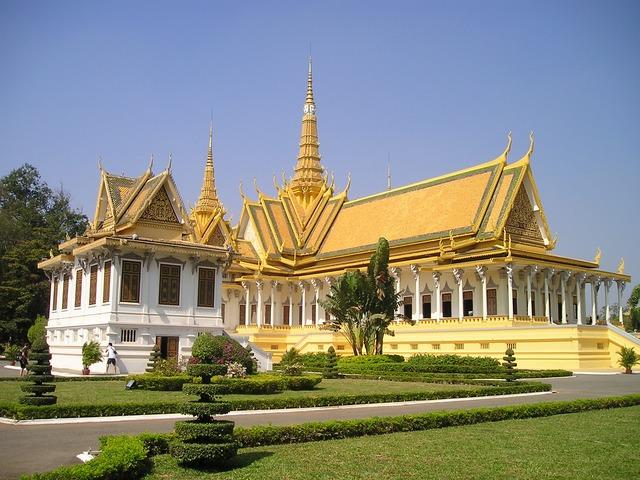 Palacio real. Nom Pen, Camboya.