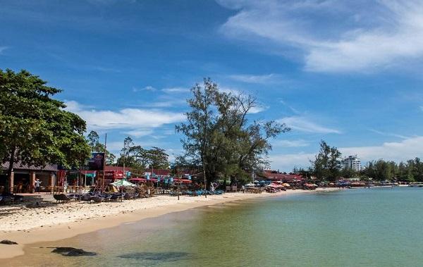 Playa en Sihanoukville. Mejores destinos en Camboya