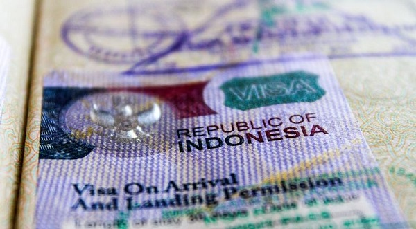 Visa on arrival. Indonesia.
