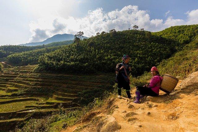 Mujeres en Sapa-Norte de Vietnam